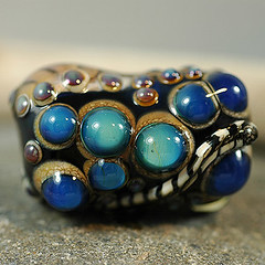 blue between bead
