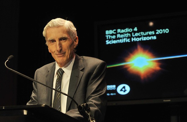 A photograph of Professor Martin Rees