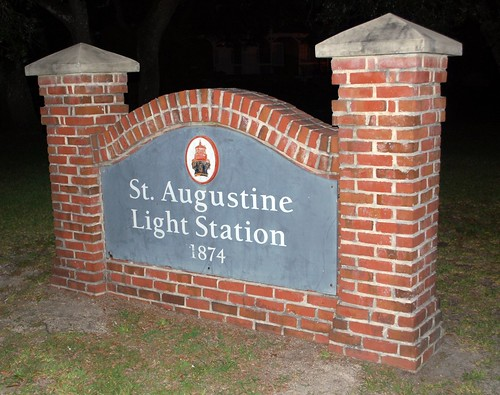 Saint Augustine Light Station Sign