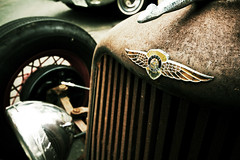 Dodge Brothers (Garret Voight) Tags: classic cars vintage emblem logo rust automobile antique retro badge dodge carshow ratrod backtothe50s