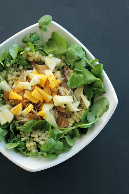 Smoked Mackerel, Apple and Watercress on Giant Couscous - 53/365