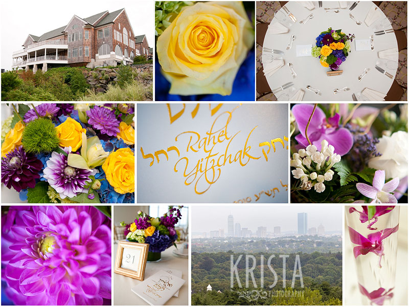 Purple & Yellow wedding details