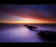 Waves (angus clyne) Tags: winter red sea cloud sun seascape west home water rock stone landscape island dawn scotland long exposure purple harbour angus north cliffs east filter lee rise arbroath clyne colorphotoaward