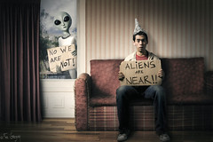 Aliens are near! (Fer Gregory) Tags: monster warning c