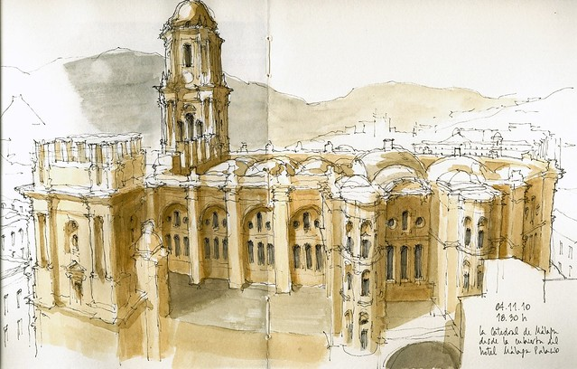 Málaga, cathedral from above