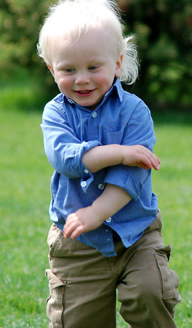 Cute boy running fast!