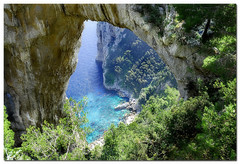 Natural Arch (giorgiopix) Tags: blue light sea cliff water ilovenature capri mare acqua luce scogliera naturesfinest naturalarch arconaturale nikond200