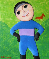Winning Smile, by Thai artist Jittiwut Sriyang, acrylic on canvas, 100x121cm