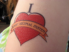 Library Geek (dandlymambly) Tags: love tattoo heart library libraries librarians deweydecimal
