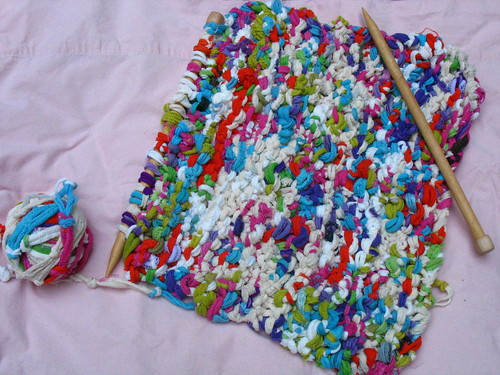 potholder-loop rug