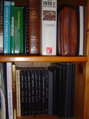 Moleskine shelf