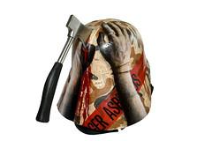 Vadercide (asbestos) Tags: danger project painting hands mask darth times vader financial hatchet asbestos vadercide