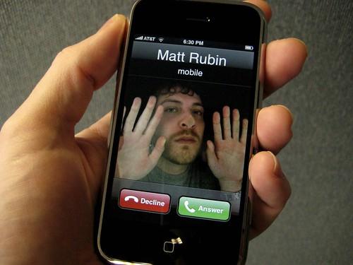 Как сделать большие фото на звонке