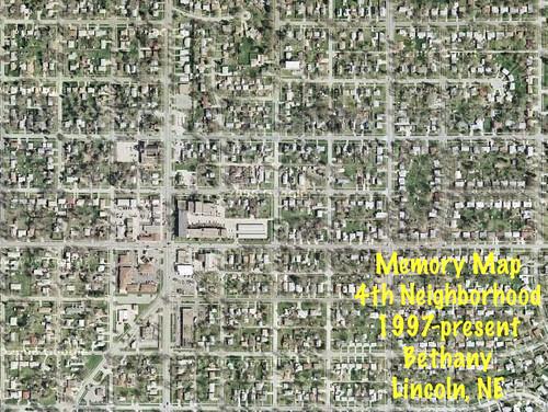 Memory Map of my Neighborhoods, Vol 4: Bethany [Lincoln, NE, USA]