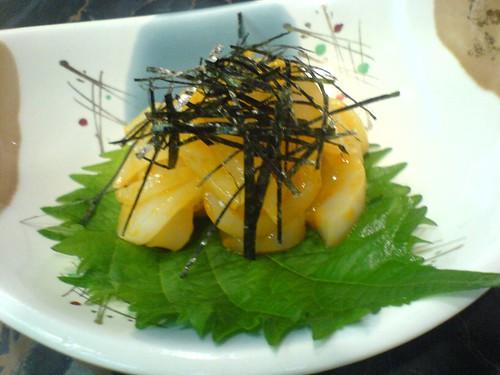 Salade de seiches aux oursins
