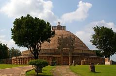 India - Sanchi (Stupa 1, north gate) (aupeter100) Tags: india heritage buddha stupa buddhist religion belief buddhism unescoworldheritagesite unesco un unescoworldheritage ashoka worldheritage sanchi madhayapradesh