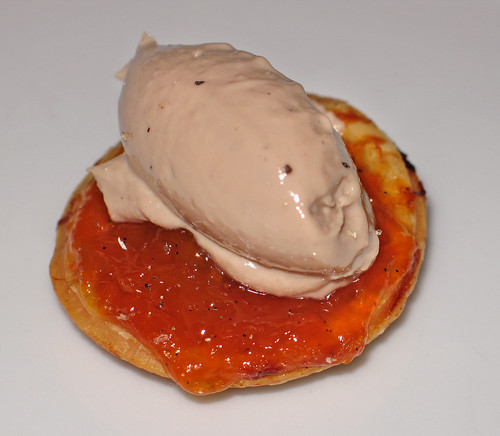 Duck Liver Mousse on an Apricot Tartlet
