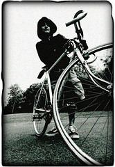 SgranataBike (Mayastar) Tags: bw bicycle photoshop artist glasgow grain westend portraitofanartist oneofmyfavourite atastelikezboys urbanpirat astrofishman mayastar kevinwalkway mayastarphotography