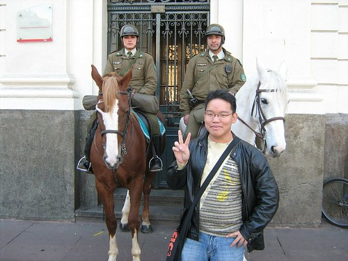 I think they are the police of Santiago