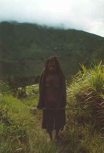 Baliem Valley - Irian Jaya - old woman