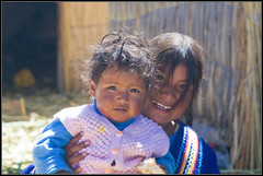 Uros Children (StefanNL) Tags: travel portrait peru uros titicaca southamerica children islands floating 2007 puno shoestring