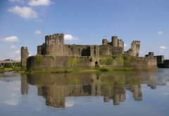 Caerphilly Castle 3 (M.R.7) Tags: reflections explore caerphillycastle oldcity wfc mhr pentaxk100d welshflickrcymru coolestphotographers mikerees