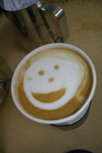 Latte that smiles