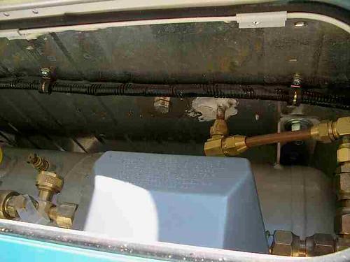 Catalytic heater propane supply