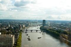 View from The London Eye (against the tide) Tags: london londoneye riverthames londonskyline