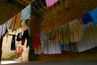 Lavar roupas todo dia...