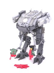 CEC Vertikale Denkfabrik (Mechanekton) Tags: green grey robot blood sand kill arms lego military rip machine lord dk gore dane stomp crush mecha mech destroy posable railguns kryptonheidt