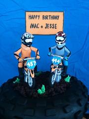Mac & Jesse (ClaresCakes) Tags: bike cake dirtbike figurine motocross tyre fondant giumpaste