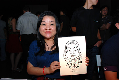 caricature live sketching for SDN First Anniversary Bash - 19