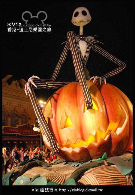 【香港旅遊】跟著via玩香港(2)~迪士尼萬聖節夜間遊行超精彩!9