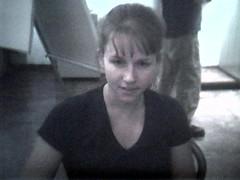 courtney_eyebrows1 (lilbuttz) Tags: italy florence webcam courtney firenze internetcafe internettrain accentflorencespring2002