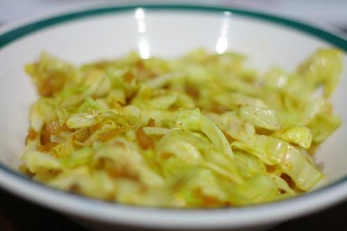 虾米炒包菜