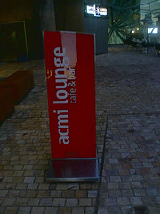 ACMI Lounge - Sign Outside