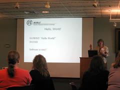 Elizabeth Thomsen speaking