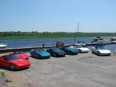 A nice background (redvette) Tags: corvette rivervalleyvettes redvette tomhiltz