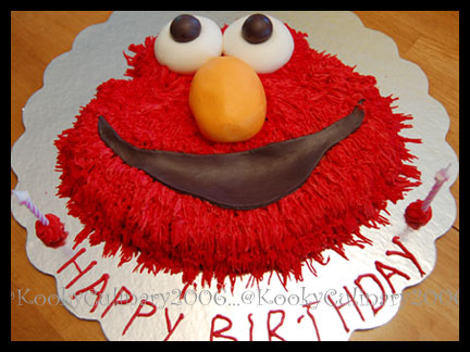 C's Elmo Birthday Cake