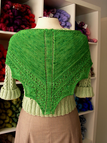 Kite Kerchief knit in Alchemy Bamboo yarn