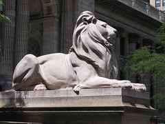 New York Public Library Lion by ax2groin, on Flickr