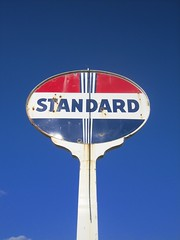 Old Standard Oil Sign. (wastedinthekeys) Tags: china road trip travel cruise family blue ireland wedding friends sunset red brazil vacation dog pet baby white fish france building bird london art car minnesota sign japan alaska century train cat truck germany mom mexico island hawaii parents boat early photo dad ship power florida antique decay farm moscow country engine retro piston nostalgia american nascar oil americana motor hastings standard fuel redwing twentieth oilisthefuelofdemocracy wantenergyindependancethenletsstartdrilling iloveexxonmobile algoreisafreak windpowerisforwindbags ilovethesmellofjetfuel