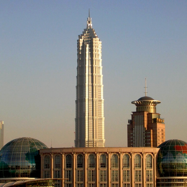 5 - Jin Mao Tower in Shanghai, 421 m