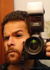 Unique Point of View (GabOrcinus ► ► ►) Tags: portrait selfportrait me peru photoshop self ego lens nikon lima retrato flash yo sb600 reflected d200 vivitar lenses egocentric nikor egocentrico d80 nikond80