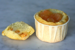 Cantaloupe Cupcake with Cantaloupe Filling