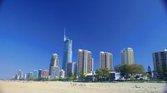 praia de Surfers Paradise, em Gold Coast, Australia