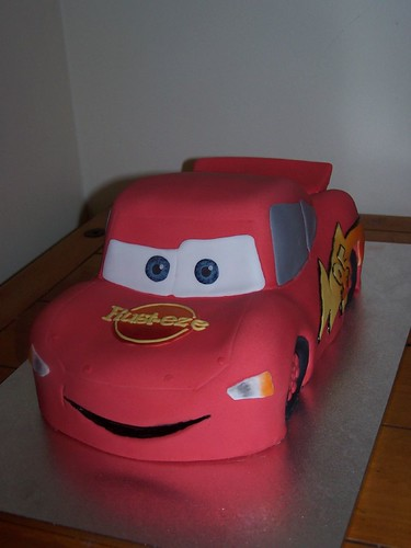 Lightning McQueen cake a photo on Flickriver