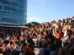 the crowd at the scoop