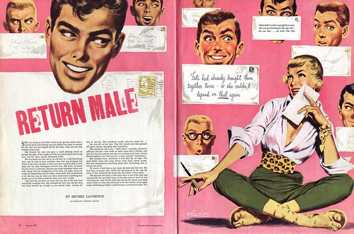 vintage old retro magazine revista women mujer moda fashion advertaisment 1950 Frederic Varady